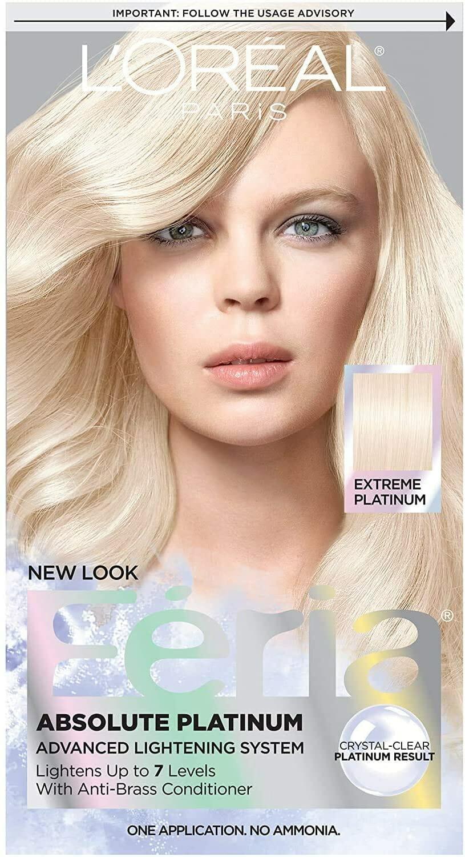 L'Oreal Feria Absolute Platinum Hair Color, Extreme Platinum Best Hair Bleach in Pakistan