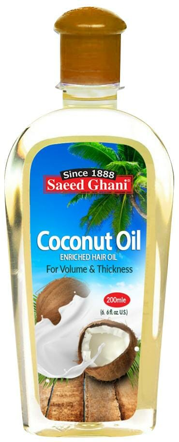 Saeed Ghani Coconut Enriched Hair Oil - Best Coconut Oil For Hair in Pakistan
