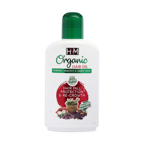HNM Cosmetics Organic Hair Oil - Hair Fall & Regrowth - Best Hair Oil For Hair Loss In Pakistan