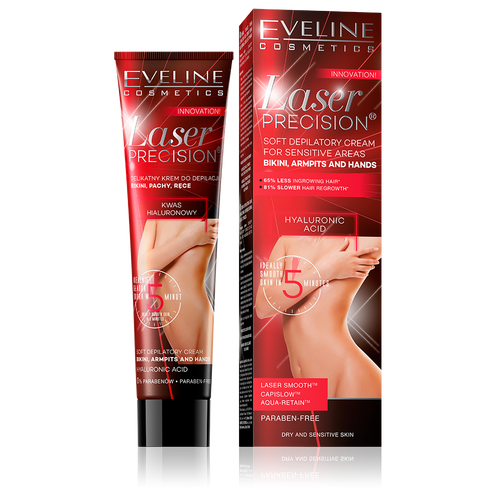 Eveline Laser Precision Soft Depilatory Cream for Sensitive Areas 125ml - Best Hair Removal Cream in Pakistan
