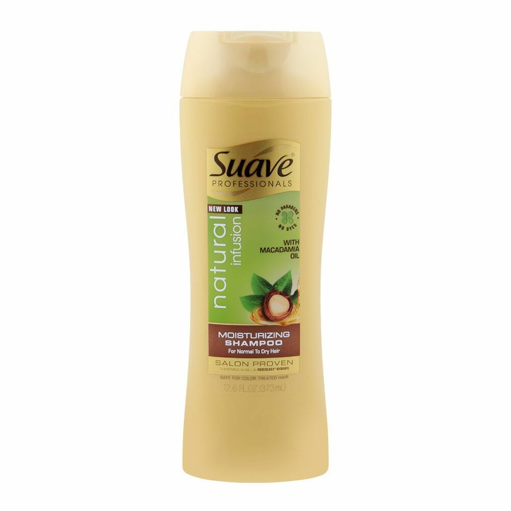 Suave Professionals Natural Infusion Macadamia Moisturizing Shampoo 373ml - Best Shampoo For Dry Hair in Pakistan