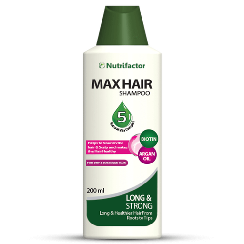 Nutrifactor Max Hair Herbal Shampoo with Keratin 200ml - Best Shampoo For Long Hair