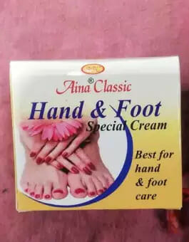 Aina Classic Hand And Foot Beauty Cream Manicure and Pedicure 40gm - Best Foot Scrub in Pakistan