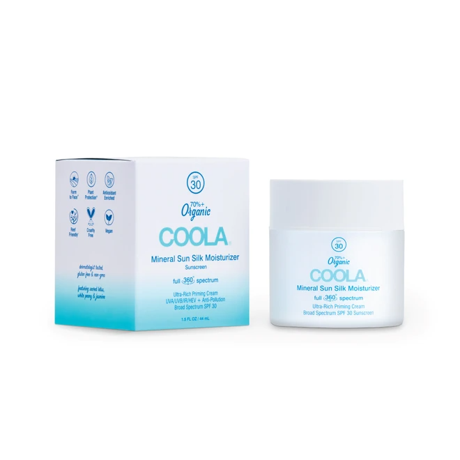 Coola Full Spectrum 360° Mineral Sun Silk Moisturizer Organic Face Sunscreen SPF 30