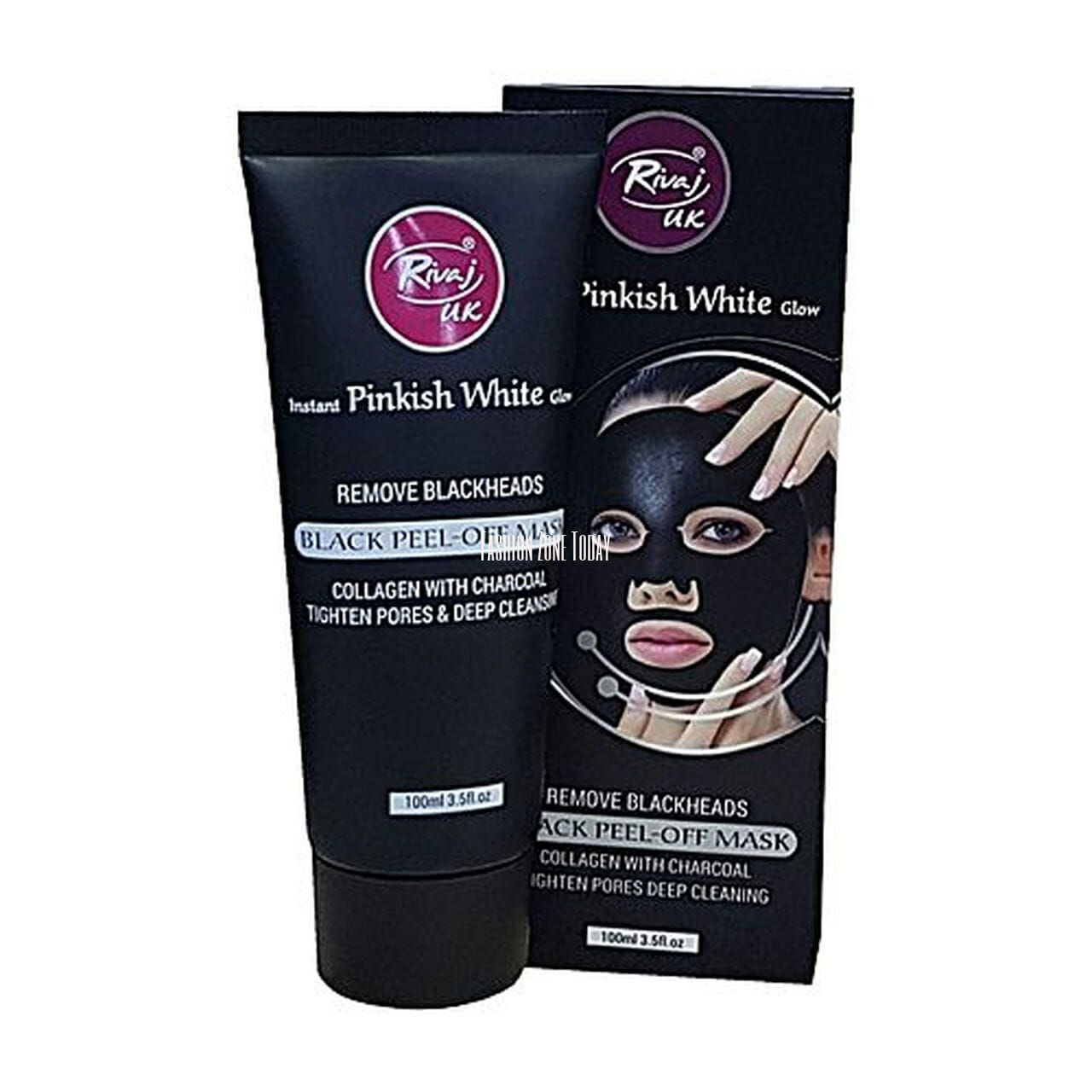 Rivaj UK Charcoal Pinkish White Peel Off Mask 100ml Best Charcoal Face Mask in Pakistan
