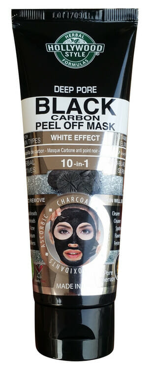 HollyWood Deep Pore Black Carbon Mud Mask 100ml Best Charcoal Face Mask in Pakistan