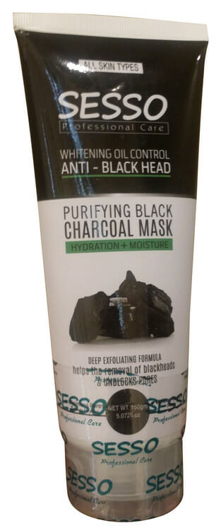 Sesso Purifying Black Charcoal Mask 150 Grams Best Charcoal Face Mask in Pakistan