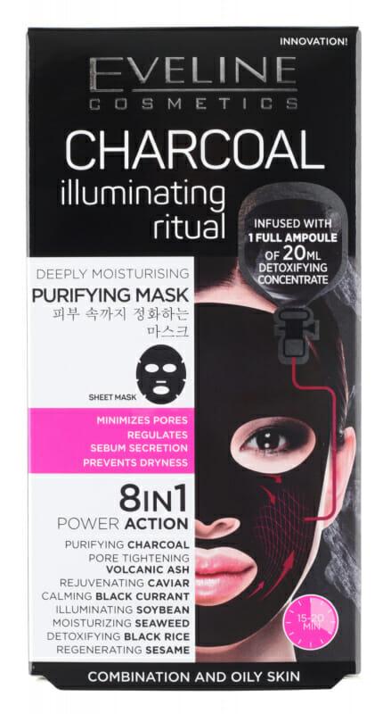 Eveline Sheet Mask Charcoal Illuminating Ritual Best Charcoal Face Mask in Pakistan