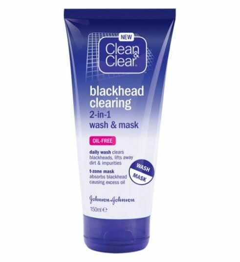 Clean & Clear Blackhead Clearing 2 in 1 Wash & Mask 150 ML Best Face Mask in Pakistan