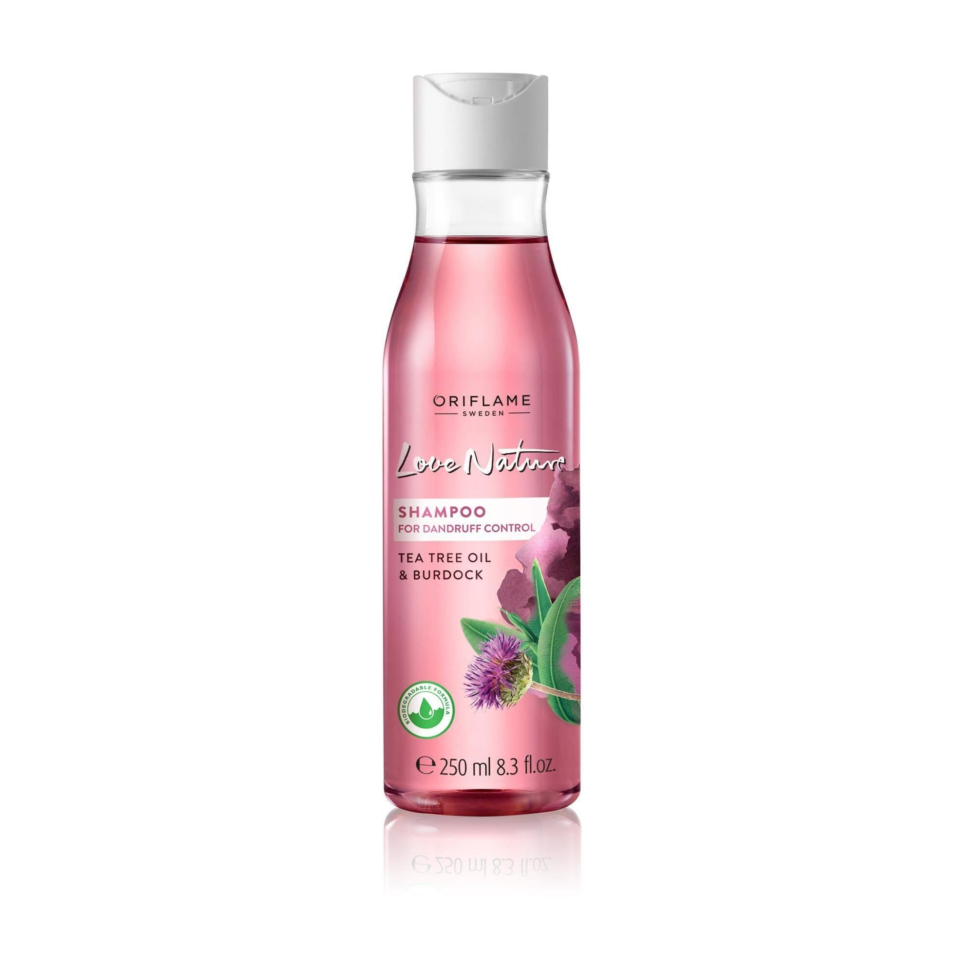 Oriflame Love Nature Shampoo For Dandruff Control Tea Tree Oil & Burdock 250ml Best Shampoo For Dandruff in Pakistan